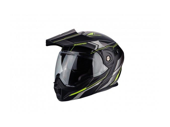 Moto přilba SCORPION ADX-1 ANIMA matná černo/neonově žlutá