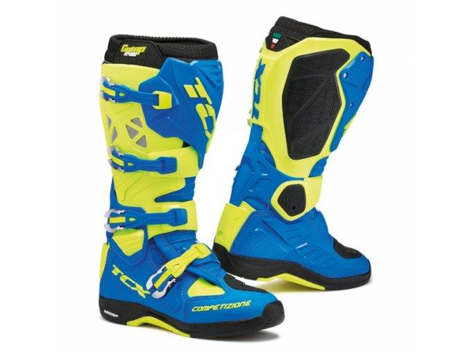Moto boty TCX COMP EVO MICHELIN® royal blue/fluo yellow