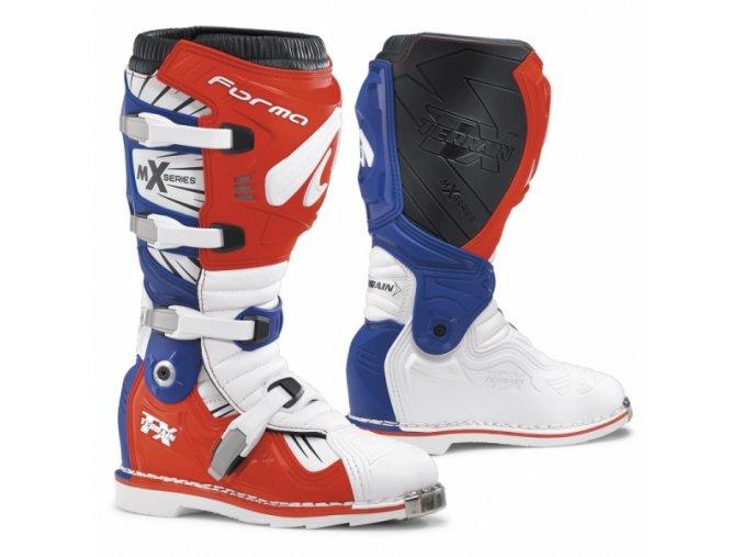 Moto boty FORMA TERRAIN TX bílo/červeno/modré