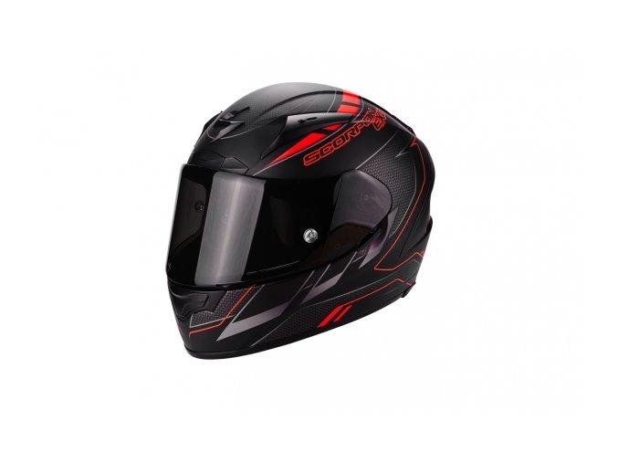 Moto přilba SCORPION EXO-2000 EVO AIR CUP černá/chameleon/červená fluo
