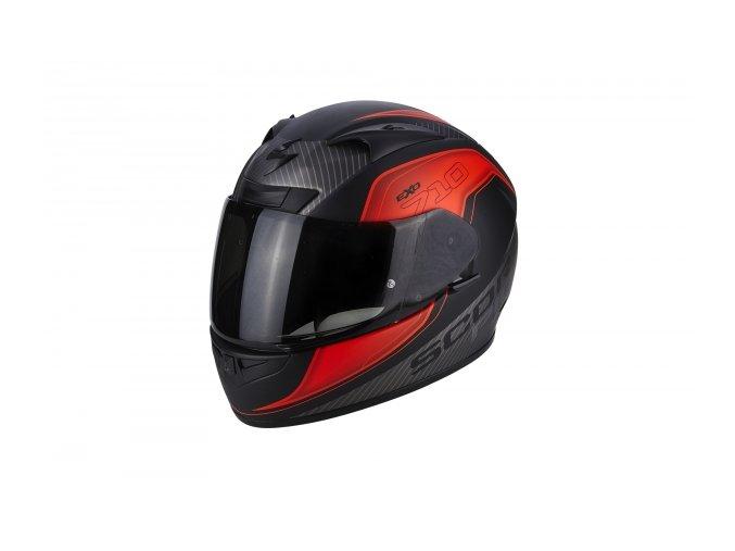 Moto přilba SCORPION EXO-710 MUGELLO matná černo/neonově červená M