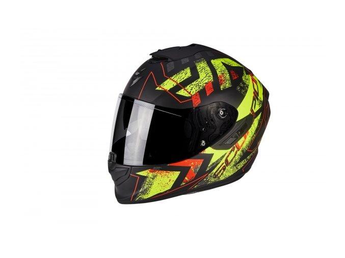 Moto přilba SCORPION EXO-1400 PICTA matná černo/neonově žlutá