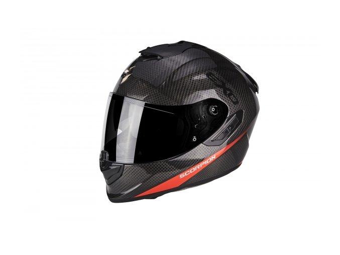 Moto přilba SCORPION EXO-1400 carbon/červená