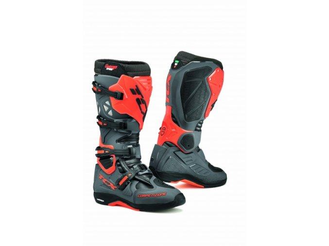 Moto boty TCX COMP EVO 2 MICHELIN® tmavě šedé/oranžové