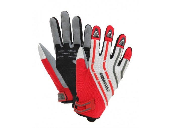 Textilní moto rukavice Spark Cross, červené