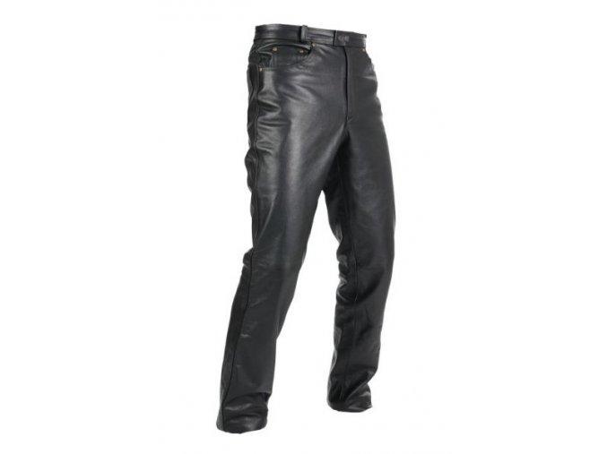 Pánské kožené moto kalhoty Spark Jeans lesklé