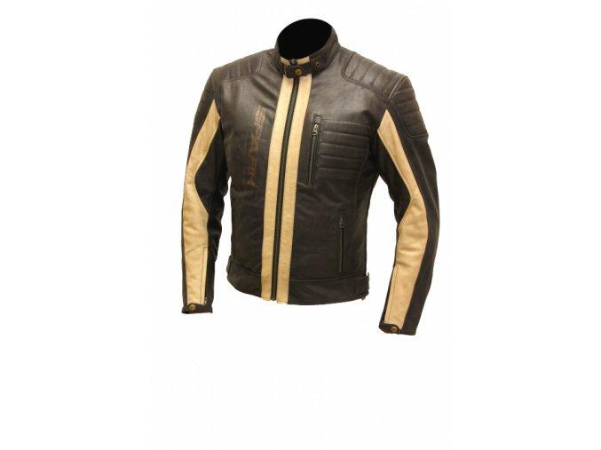 Pánská kožená bunda Spark Hector hnědá