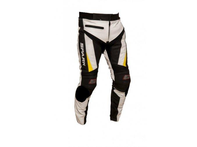 Pánské kožené moto kalhoty Spark ProComp, bílé
