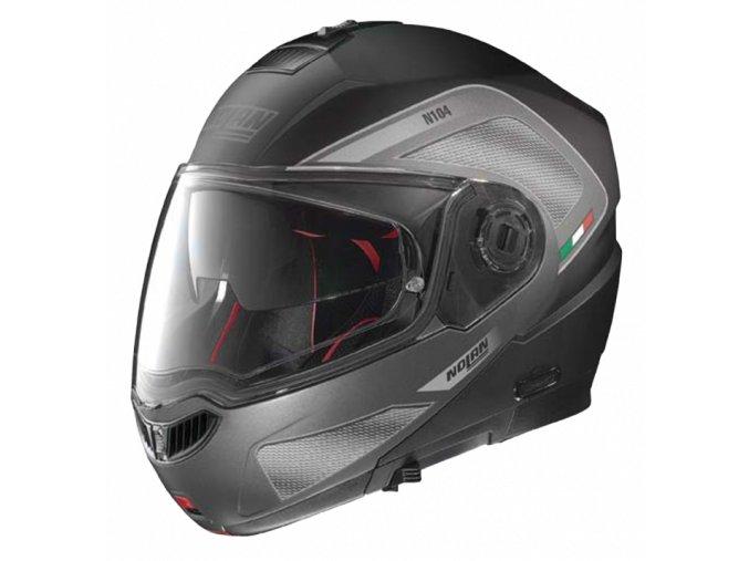 Moto helma Nolan N104 Absolute Tech N-Com Flat Black 27