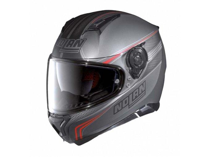 Moto helma Nolan N87 Rapid N-Com Flat Lava Grey 16