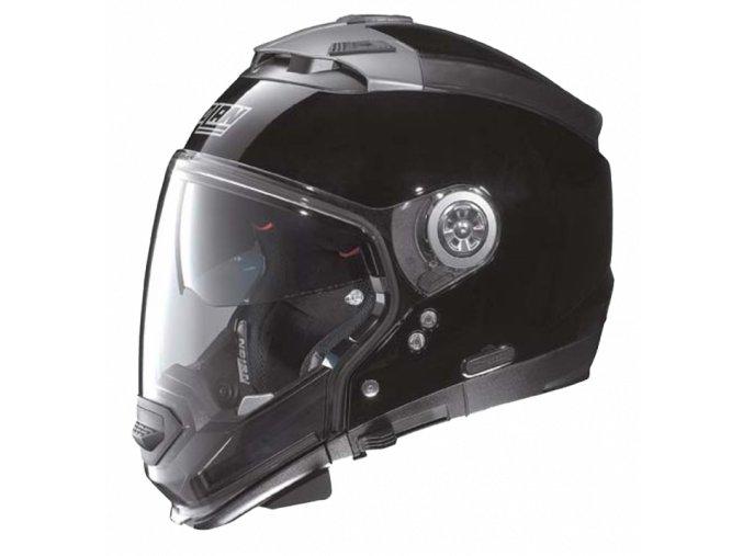 Moto helma Nolan N44 Evo Classic N-Com Glossy Black 3