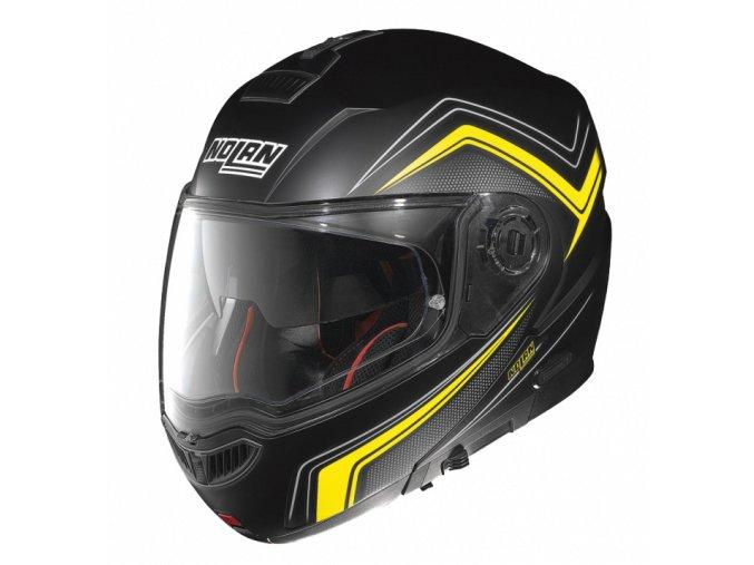 Moto helma Nolan N104 Absolute Como N-Com Flat Black 51