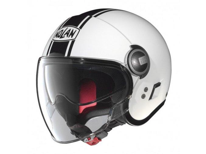 Moto helma Nolan N21 Duetto Glossy White 14