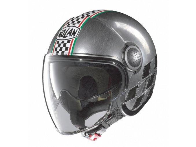 Moto helma Nolan N21 Visor Asso Scratched Chrome 20