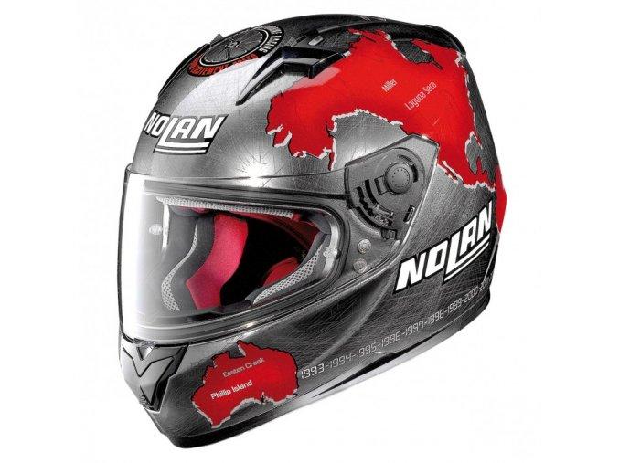 Moto helma Nolan N64 Gemini Replica C Checa Scratched Chrome 82 - 2XL