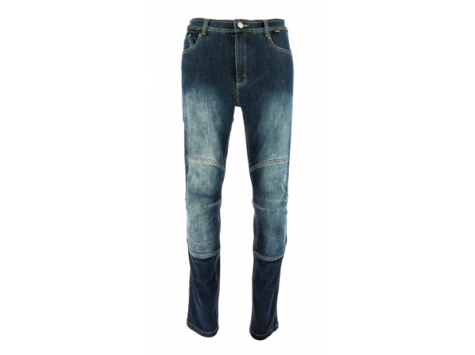Moto kalhoty Throne jeans modré krátké