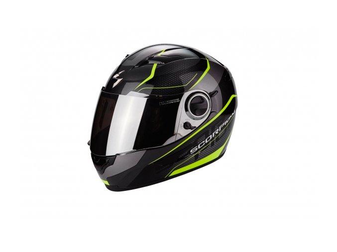 Moto přilba SCORPION EXO-490 VISION černo/neonově žlutá