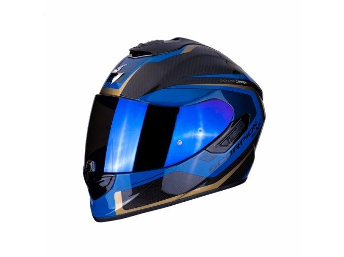 Moto přilba SCORPION EXO-1400 CARBON AIR ESPRIT černo/modrá