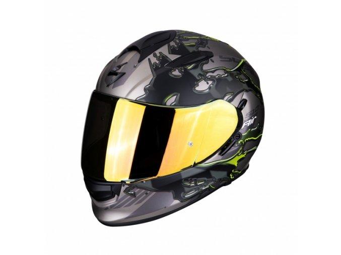 Moto přilba SCORPION EXO-510 AIR LIKID titan/neon žlutá