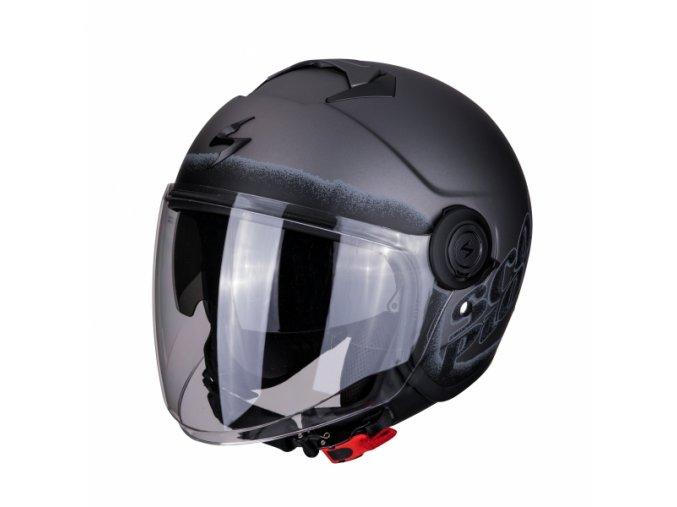 Moto přilba SCORPION EXO-CITY BLURR matná stříbrno/černá