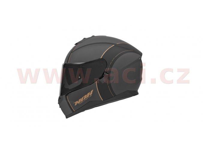 přilba N302 BOWLER, NOX (šedá matná/černá/bronzová)