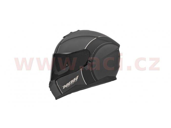 přilba N302 BOWLER, NOX (šedá matná/černá/stříbrná)