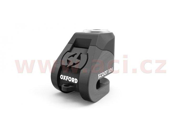 zámek kotoučové brzdy Scoot XD5, OXFORD - Anglie (černý, průměr čepu 6mm)
