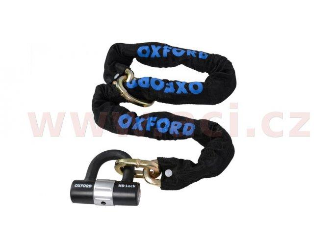 řetězový zámek na motocykl HD Loop s kovaným okem pro možnost provléknutí do smyčky, OXFORD - Anglie (délka 1,2m)