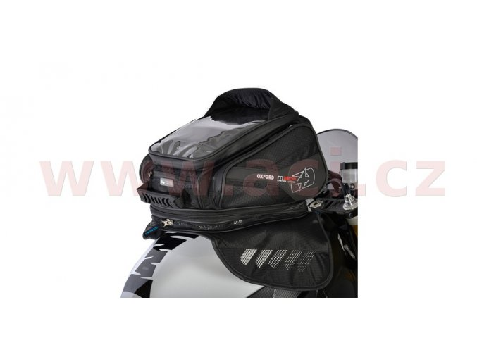 tankbag na motocykl M30R, OXFORD - Anglie (černý, s magnetickou základnou, objem 30l)