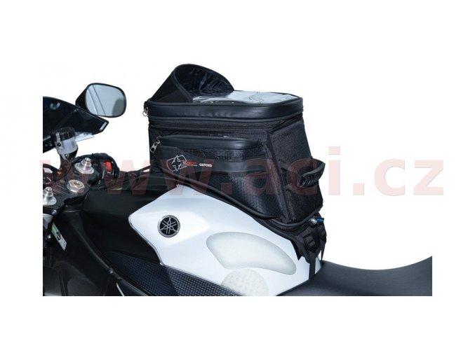 tankbag na motocykl S20R Adventure s popruhy, OXFORD - Anglie (černý, objem 20l)