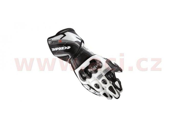 rukavice CARBO 3, SPIDI - Itálie (černé/bílé)