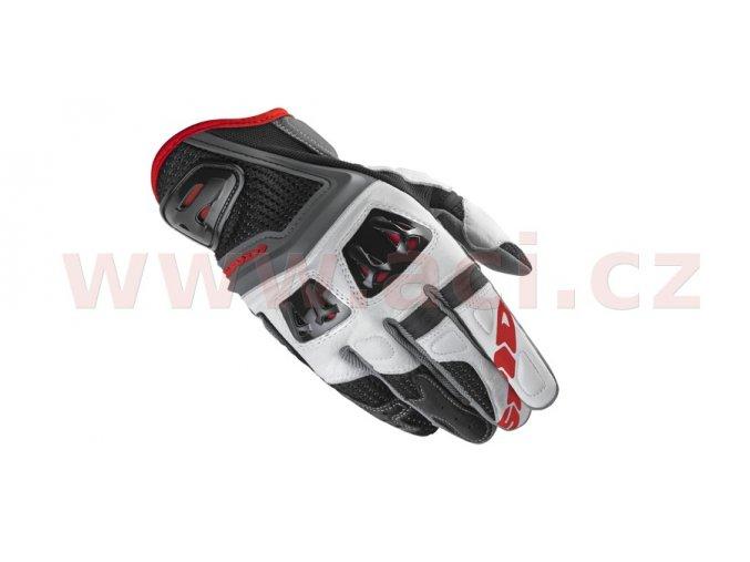 rukavice JAB RR, SPIDI - Itálie (černé/bílé/červené)