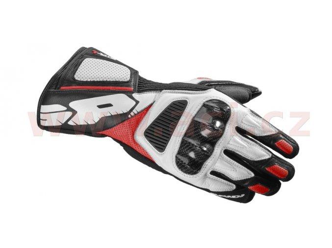 rukavice STR4 VENT, SPIDI - Itálie (červené/bílé/černé)