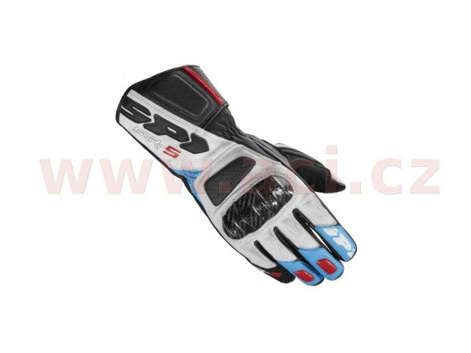 rukavice STR5, SPIDI - Itálie (bílé/modré/červené/černé)