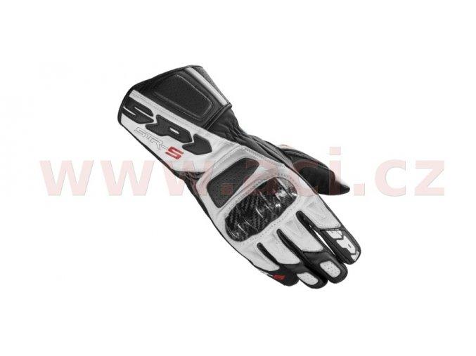 rukavice STR5, SPIDI - Itálie (bílé/černé)