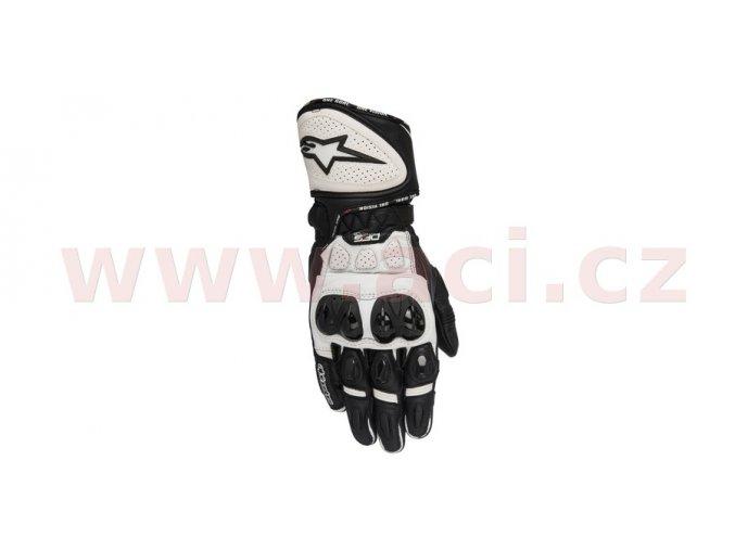 rukavice GP PLUS R, ALPINESTARS - Itálie (černé/bílé)