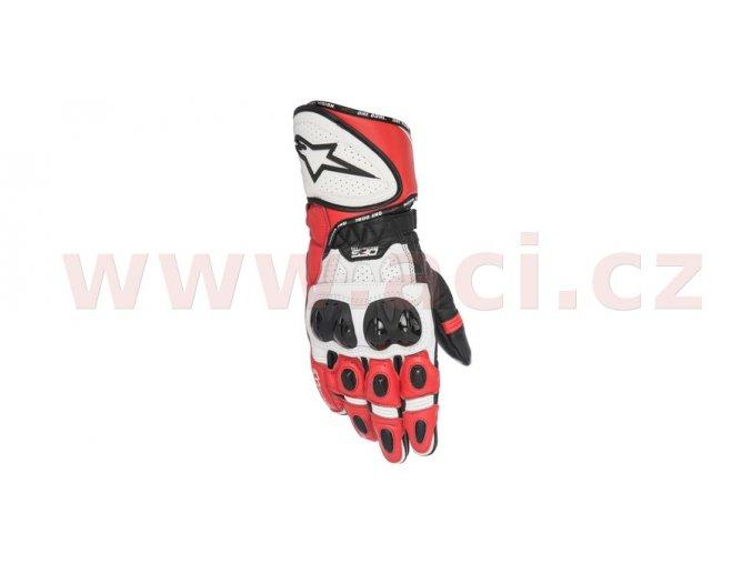 rukavice GP PLUS R, ALPINESTARS - Itálie (červené/bílé/černé)