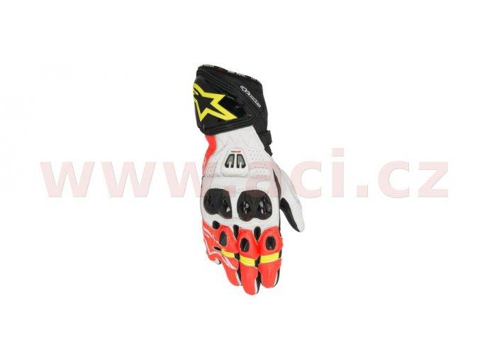 rukavice GP PRO 2017, ALPINESTARS - Itálie (červené fluo/bílé/černé/žluté fluo)