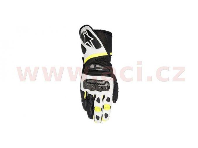 rukavice SP-1, ALPINESTARS - Itálie (černé/bílé/žluté fluo)