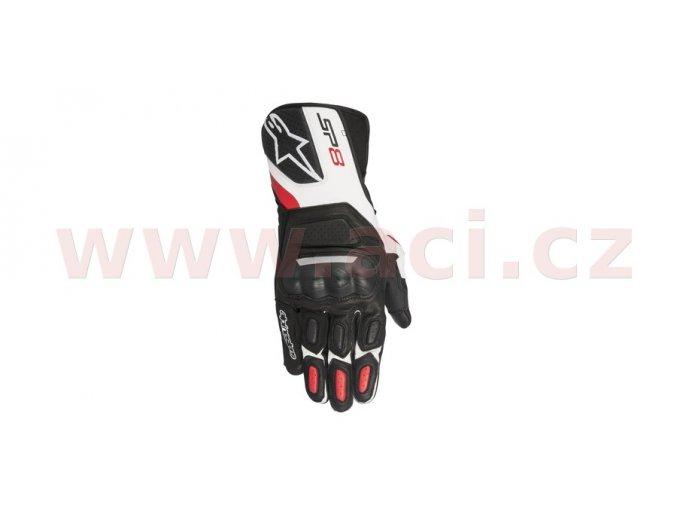 rukavice SP-8 2017, ALPINESTARS - Itálie (černé/bílé/červené)