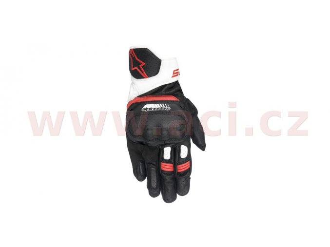 rukavice SP-5, ALPINESTARS - Itálie (černé/bílé/červené)