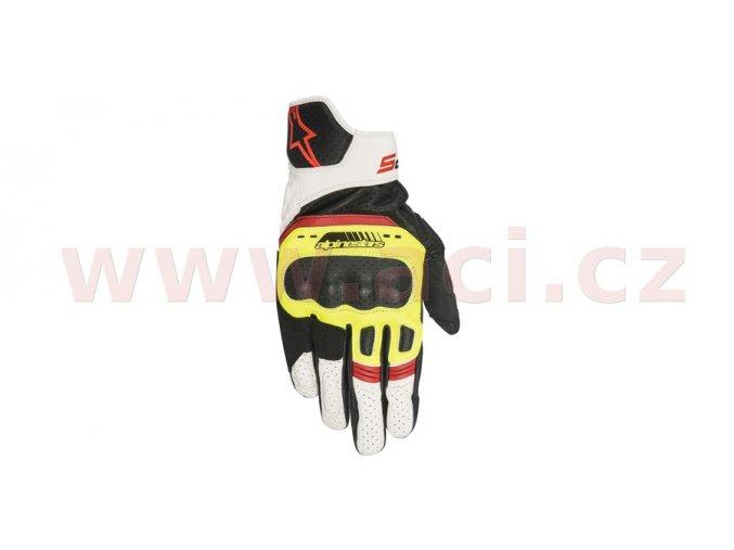 rukavice SP-5, ALPINESTARS - Itálie (černé/žluté fluo/bílé/červené fluo)