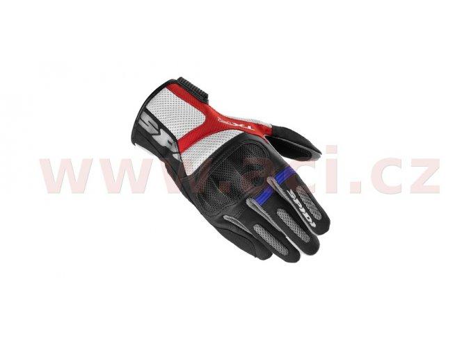 rukavice TXR, SPIDI - Itálie (černá/modrá/červená/bílá)