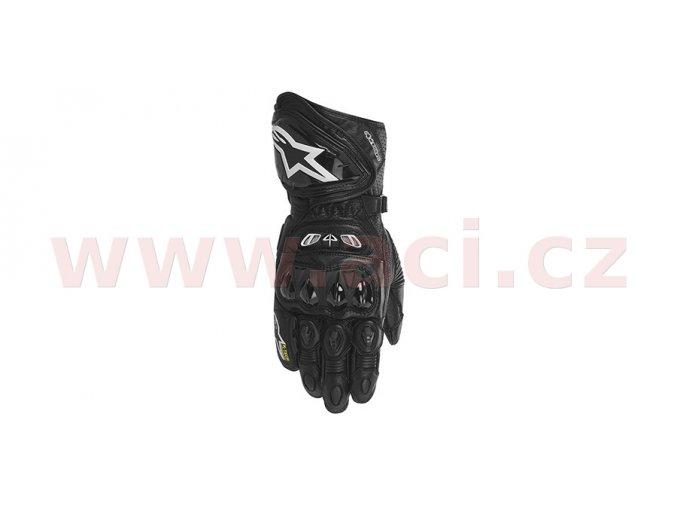 rukavice GP TECH, ALPINESTARS - Itálie (černé)