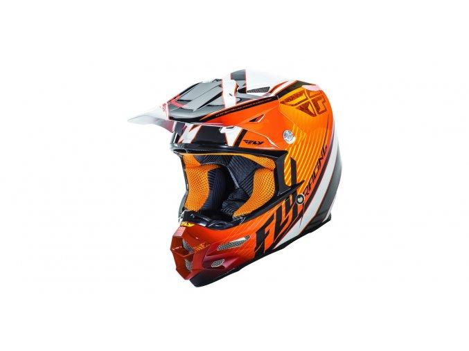 přilba F2 Fastback, FLY RACING - USA (oranžová/bílá/černá)