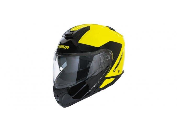 přilba Velocity ST 2.0, CASSIDA - ČR (žlutá fluo/černá)