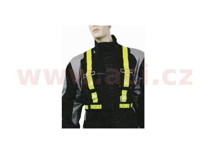 reflexní pásy ramenní, OXFORD - Anglie (žlutá fluo)