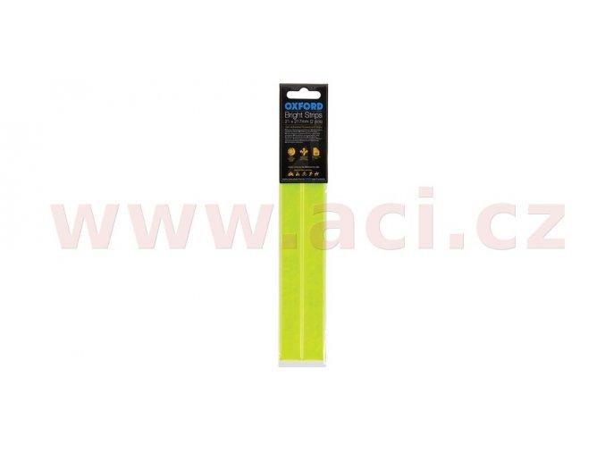 reflexní pásky Bright Strips, OXFORD - Anglie (žlutá fluo, 21 x 217mm, pár)