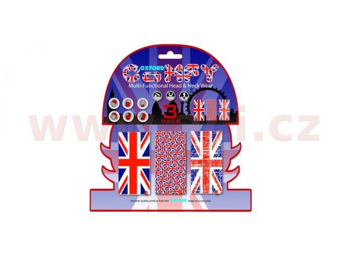nákrčníky Comfy Union Jack, OXFORD - Anglie (sada 3ks)