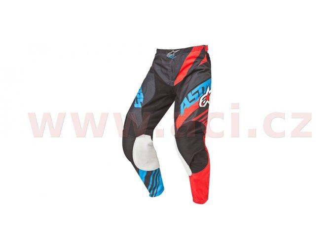 kalhoty Racer Supermatic, ALPINESTARS - Itálie (černá/červená/modrá)